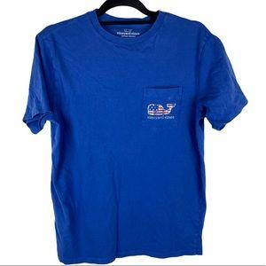 Vineyard Vines American Flag Mens T-shirt Size M